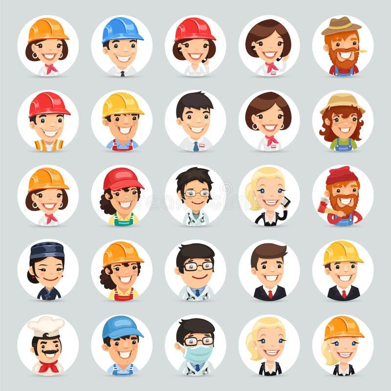Διανυσματικά εικονίδια Set1.2 χαρακτήρων επαγγελμάτων διανυσματική απεικόνιση
