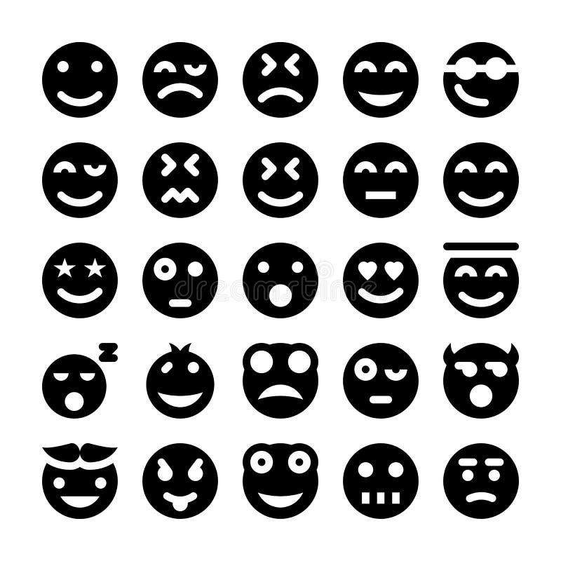 Διανυσματικά εικονίδια 1 Smiley ελεύθερη απεικόνιση δικαιώματος