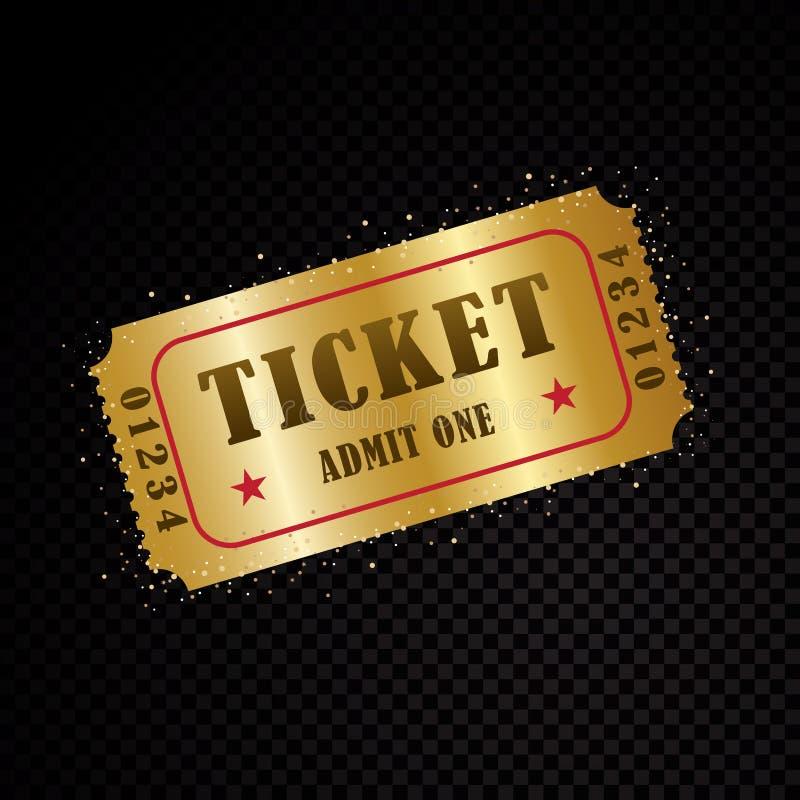 Διανυσματικά εισιτήρια και πρότυπα δελτίων διανυσματική απεικόνιση