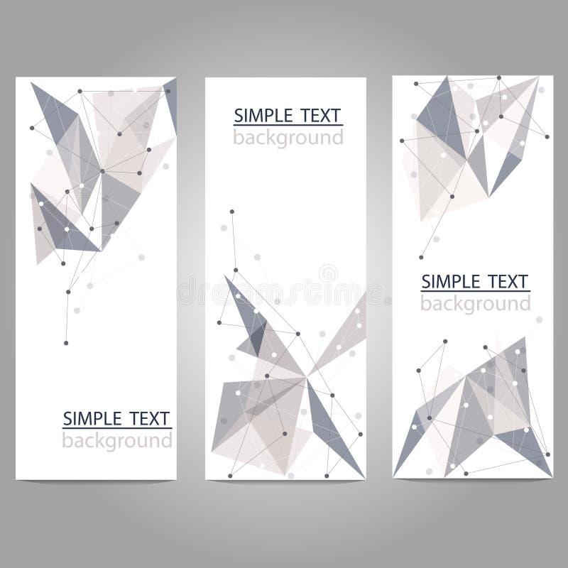 Διανυσματικά εμβλήματα που τίθενται με τις polygonal αφηρημένες μορφές με τα τρίγωνα διανυσματική απεικόνιση