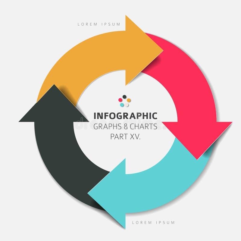 Διανυσματικά επίπεδα infographic στοιχεία σχεδίου ελεύθερη απεικόνιση δικαιώματος