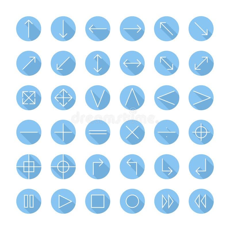 Διανυσματικά λεπτά εικονίδια που τίθενται για τον Ιστό και κινητά γραμμή διανυσματική απεικόνιση