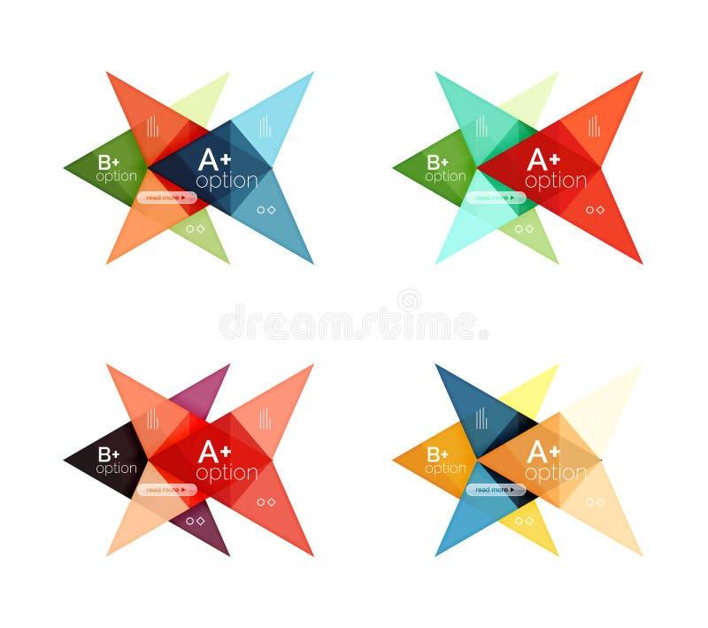 Διανυσματικά ζωηρόχρωμα πρότυπα infographics επιλογής βελών καθορισμένα ελεύθερη απεικόνιση δικαιώματος