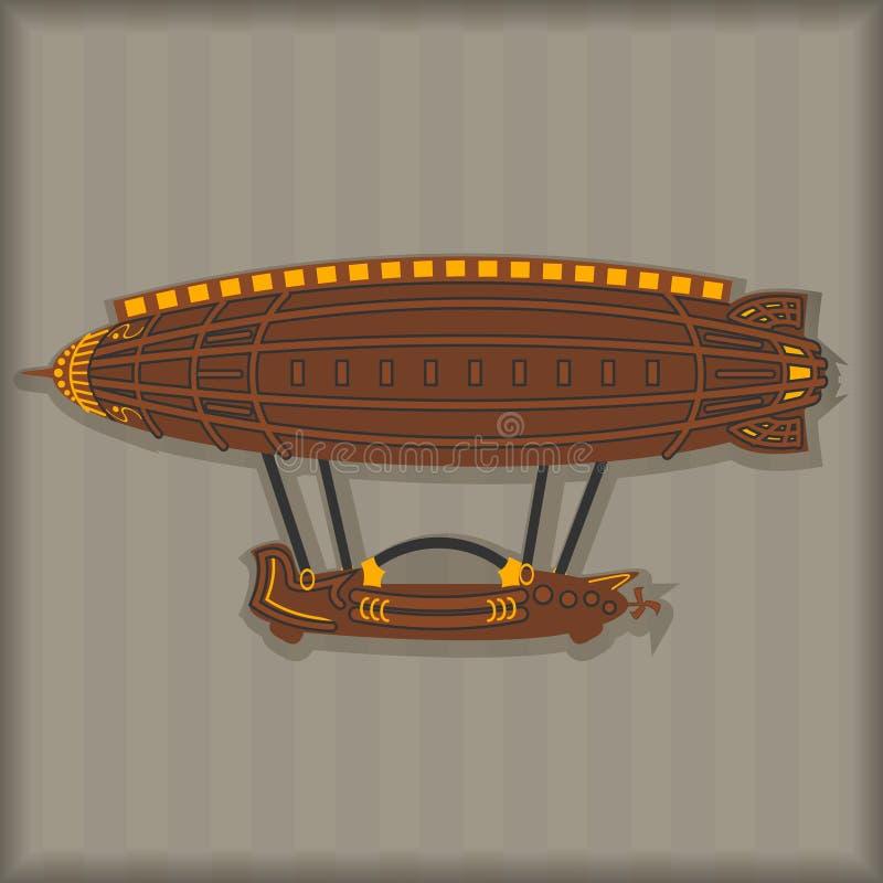 Διανυσματικά καθορισμένα στοιχεία σχεδίου Steampunk διανυσματική απεικόνιση