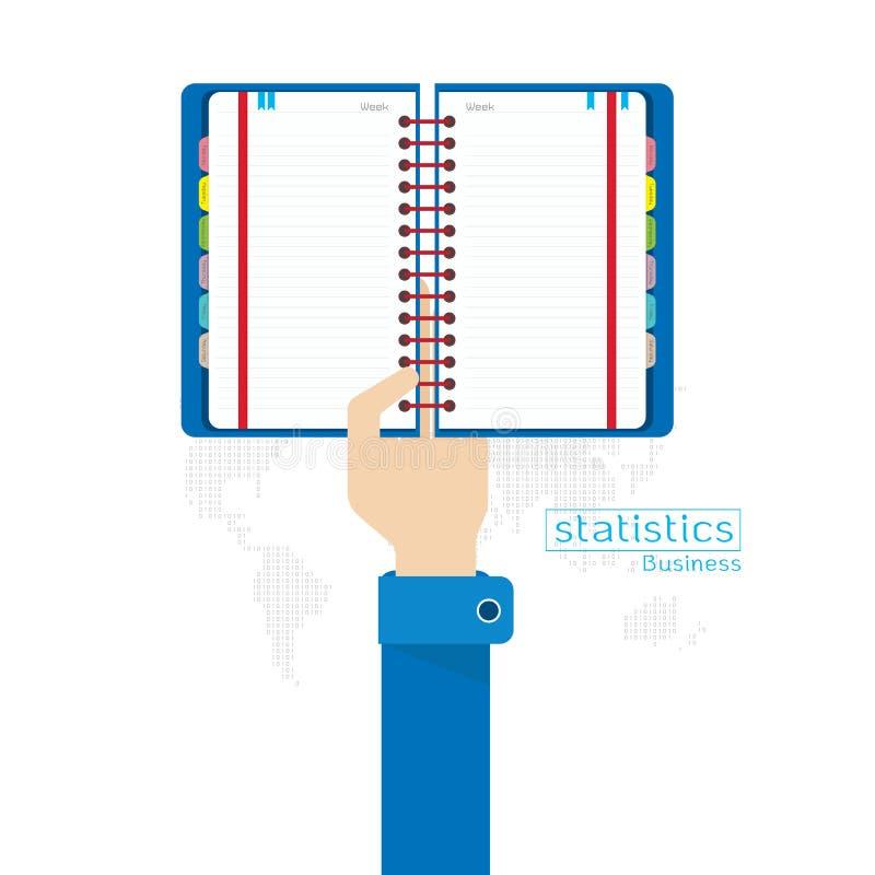 Διανυσματικά καθορισμένα χέρι και μπράτσο εικονιδίων στατιστικών στοιχείων βιβλίων ελεύθερη απεικόνιση δικαιώματος