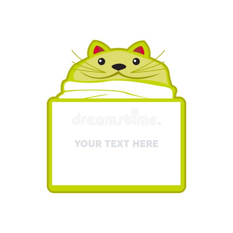 Διανυσματικά κινούμενα σχέδια απεικόνισης εγγράφου σημειώσεων λεκτικών φυσαλίδων μηνυμάτων γατακιών γατών απεικόνιση αποθεμάτων