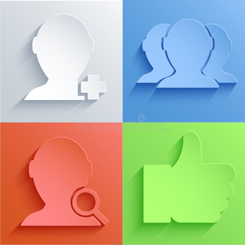 Διανυσματικά κοινωνικά καθορισμένα υπόβαθρα εικονιδίων δικτύων. Eps10 απεικόνιση αποθεμάτων
