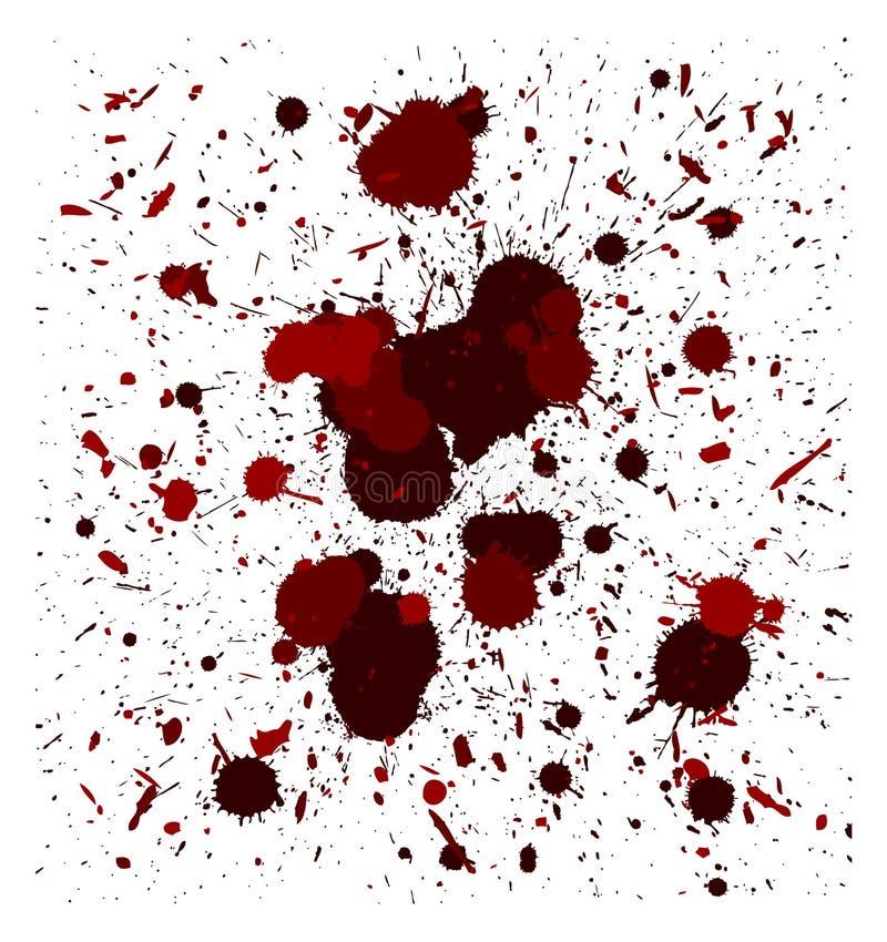 Διανυσματικά κόκκινα splatters βουρτσών ελεύθερη απεικόνιση δικαιώματος