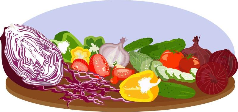διανυσματικά λαχανικά στοκ εικόνα με δικαίωμα ελεύθερης χρήσης