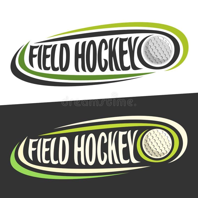 Διανυσματικά λογότυπα για τον αθλητισμό χόκεϋ τομέων απεικόνιση αποθεμάτων