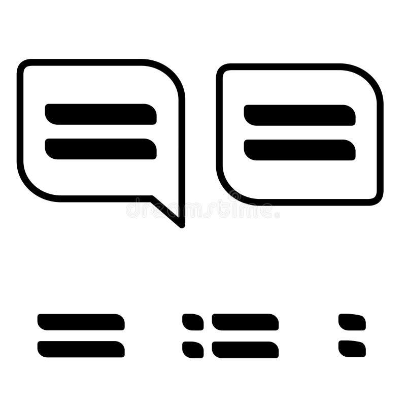 Διανυσματικά μαύρα εικονίδια επιλογών στο άσπρο υπόβαθρο Απλά σύμβολα για τη ναυσιπλοΐα Κουμπιά για περισσότερη χρήση διανυσματική απεικόνιση