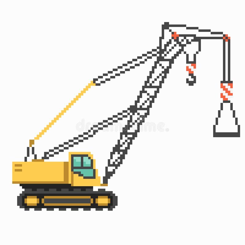 Διανυσματικά μηχανήματα κατασκευής εικονοκυττάρου με το γερανό ελεύθερη απεικόνιση δικαιώματος