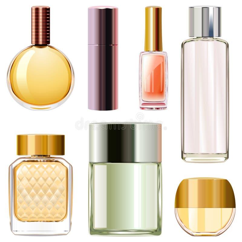 Διανυσματικά μπουκάλια αρώματος διανυσματική απεικόνιση