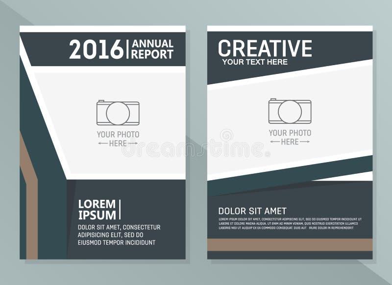 Διανυσματικά πρότυπα σχεδίου ετήσια εκθέσεων Επιχειρησιακό φυλλάδιο, ιπτάμενο και πρότυπο σχεδιαγράμματος σχεδίου κάλυψης διανυσματική απεικόνιση