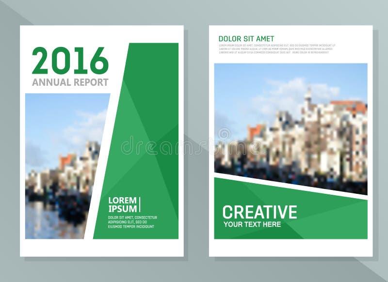 Διανυσματικά πρότυπα σχεδίου ετήσια εκθέσεων Επιχειρησιακό φυλλάδιο, ιπτάμενο και πρότυπο σχεδιαγράμματος σχεδίου κάλυψης ελεύθερη απεικόνιση δικαιώματος