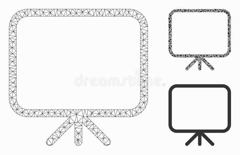 Διανυσματικά πρότυπο σφαγίων πλέγματος οθόνης παρουσίασης και εικονίδιο μωσαϊκών τριγώνων απεικόνιση αποθεμάτων