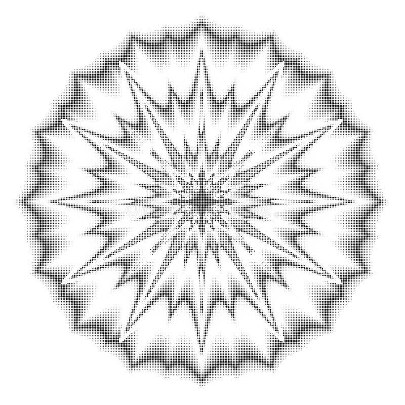 Διανυσματικά σημεία ημίτοά Μαύρα σημεία στο άσπρο υπόβαθρο σύσταση ro απεικόνιση αποθεμάτων