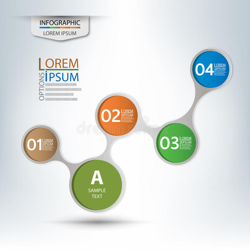 Διανυσματικά στοιχεία για τη infographic παρουσίαση και το διάγραμμα διανυσματική απεικόνιση