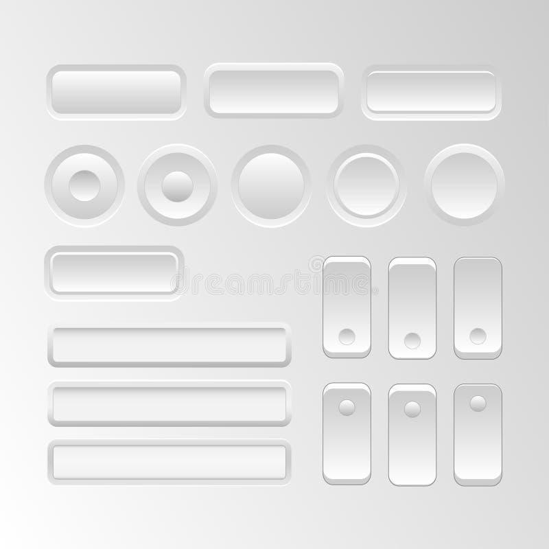 Διανυσματικά στοιχεία ενδιάμεσων με τον χρήστη διανυσματική απεικόνιση