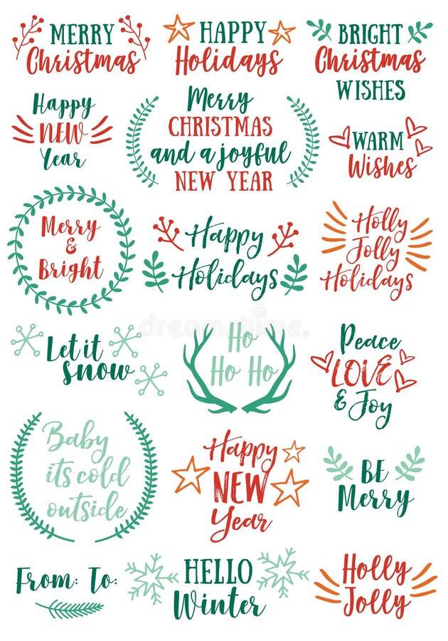 Διανυσματικά στοιχεία σχεδίου Χριστουγέννων ελεύθερη απεικόνιση δικαιώματος