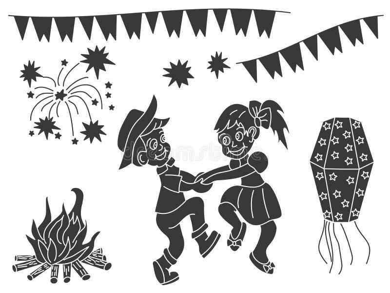 Διανυσματικά στοιχεία σχεδίου Junina Festa διανυσματική απεικόνιση