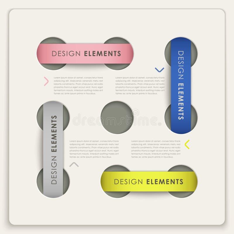 Διανυσματικά στοιχεία Infographic με το ύφος ετικετών ελεύθερη απεικόνιση δικαιώματος