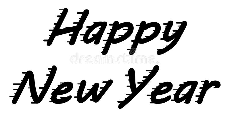 Διανυσματικά συγχαρητήρια καλής χρονιάς για τις αφίσες σας, προσκλήσεις, εμβλήματα απεικόνιση αποθεμάτων