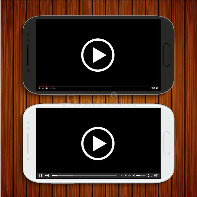 Διανυσματικά σύγχρονα γραπτά smartphones διανυσματική απεικόνιση