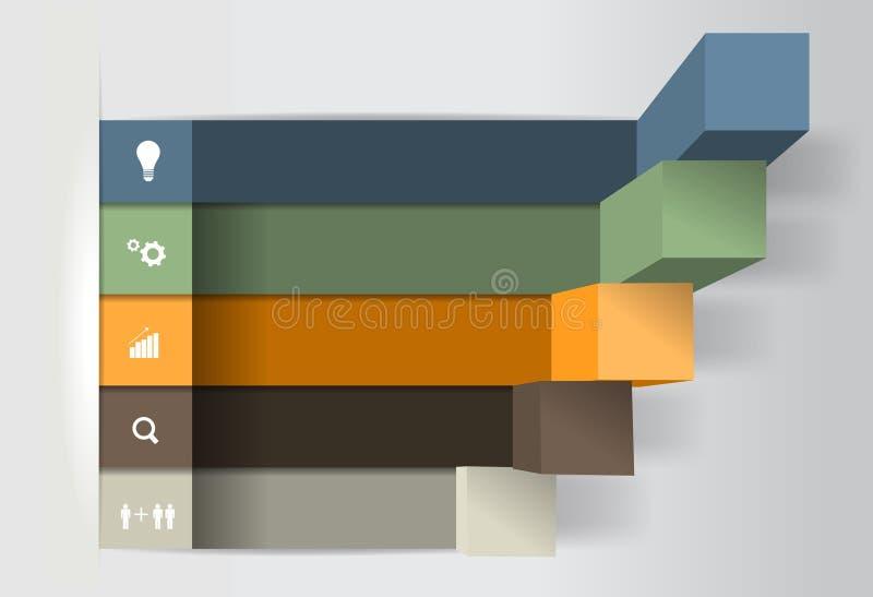 Διανυσματικά σύγχρονα επιχειρησιακά βήματα στα διαγράμματα επιτυχίας και διανυσματική απεικόνιση