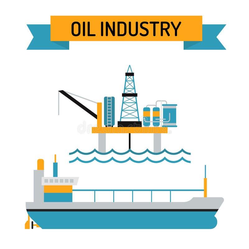 Διανυσματικά σύμβολα ύφους βιομηχανίας πετρελαίου επίπεδα απεικόνιση αποθεμάτων