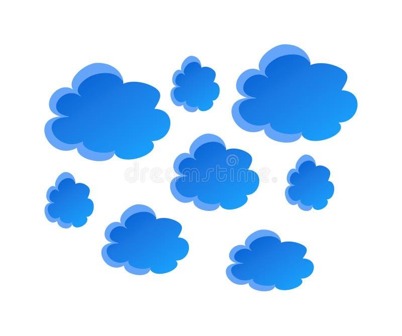 Διανυσματικά σύννεφα απεικόνιση αποθεμάτων