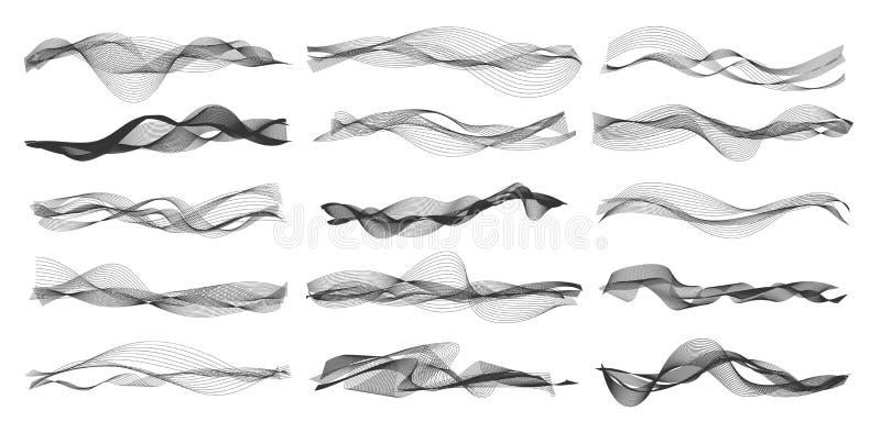 Διανυσματικά υγιή κύματα μουσικής διανυσματική απεικόνιση