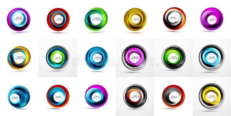 Διανυσματικά υπόβαθρα κύκλων, πρότυπο υποβάθρων στροβίλου Μέγα συλλογή των διανυσματικών αφηρημένων υποβάθρων απεικόνιση αποθεμάτων