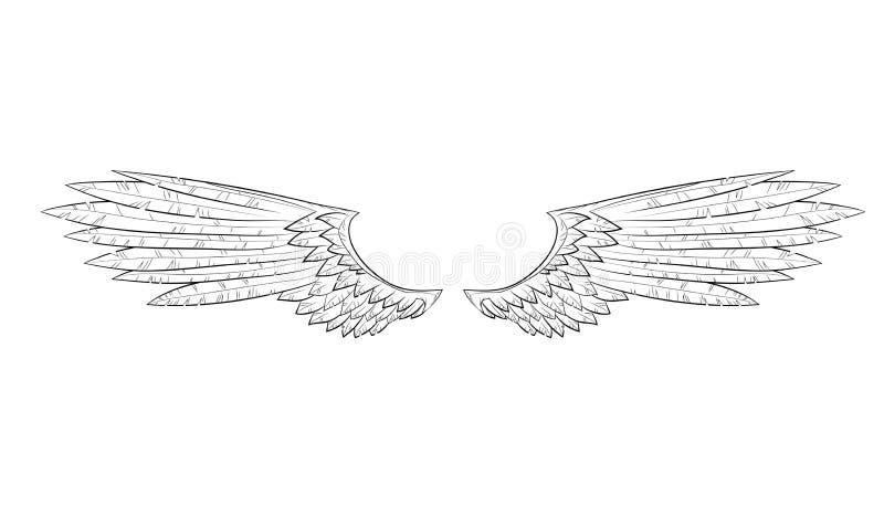 Διανυσματικά φτερά ελεύθερη απεικόνιση δικαιώματος