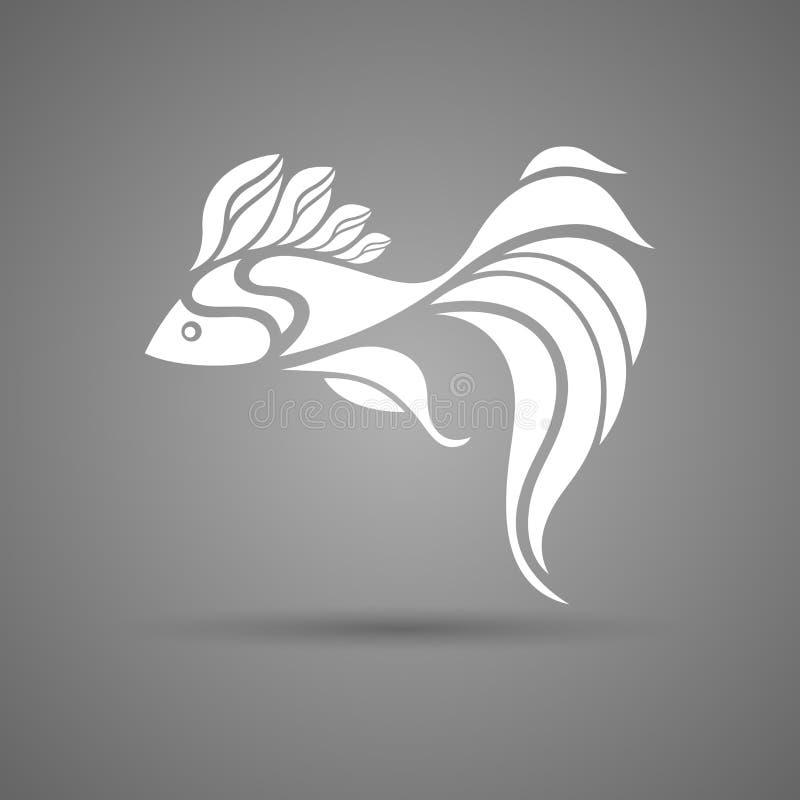 Διανυσματικά όμορφα άσπρα ψάρια διανυσματική απεικόνιση