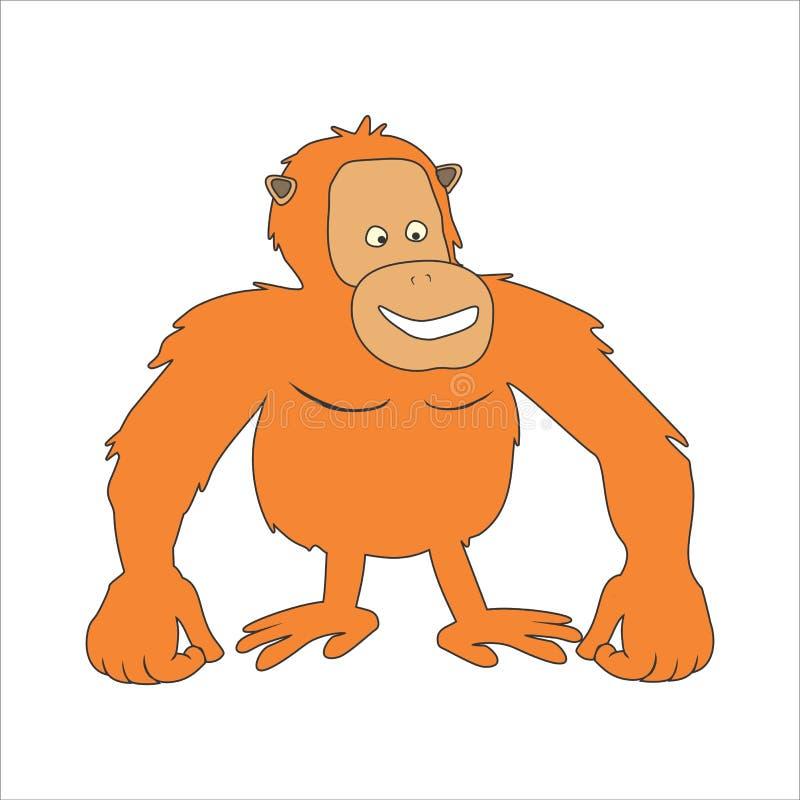 Διανυσματικά orangutan κινούμενα σχέδια ελεύθερη απεικόνιση δικαιώματος
