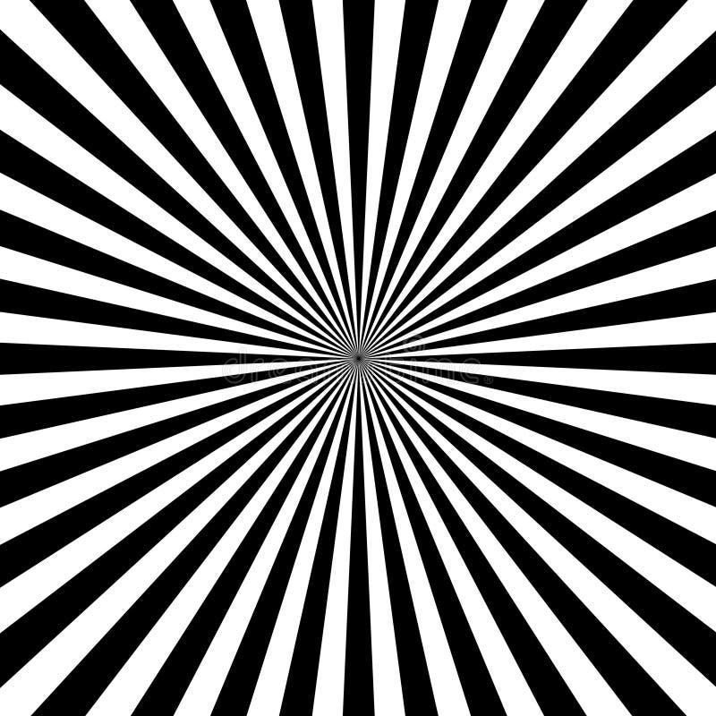 Διανυσματικές ακτίνες ήλιων υποβάθρου με το άσπρο και μαύρο χρώμα απεικόνιση αποθεμάτων