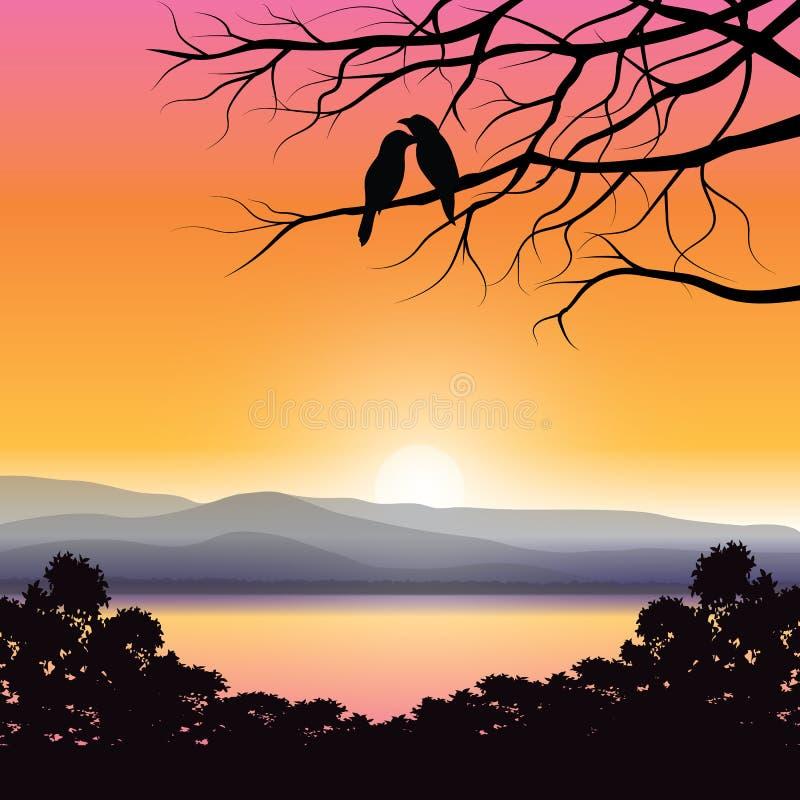 Διανυσματικές απεικονίσεις, εραστές πουλιών στοκ φωτογραφία με δικαίωμα ελεύθερης χρήσης