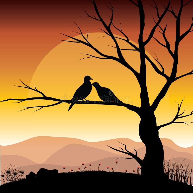 Διανυσματικές απεικονίσεις, εραστές πουλιών στοκ φωτογραφίες με δικαίωμα ελεύθερης χρήσης
