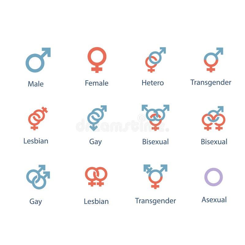 Διανυσματικές απεικονίσεις του αρσενικού και θηλυκού συμβόλου φύλων στο μαύρο λευκό χρώματος ελεύθερη απεικόνιση δικαιώματος