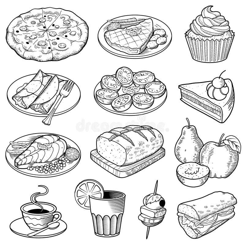Διανυσματικές απεικονίσεις τροφίμων διανυσματική απεικόνιση