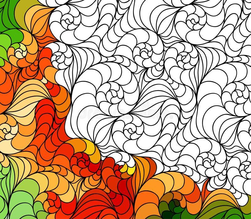 Διανυσματικές αφηρημένες άνευ ραφής συρμένες χέρι διακοσμήσεις σχεδίων φαντασίας απεικόνιση αποθεμάτων