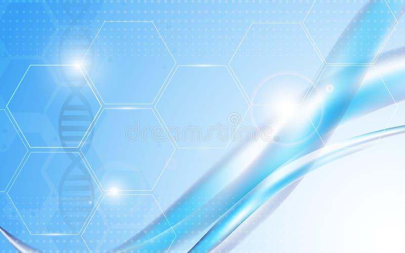 Διανυσματικές αφηρημένες επιστήμη υποβάθρου και έννοια υγειονομικής περίθαλψης απεικόνιση αποθεμάτων