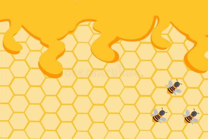 Διανυσματικές γλυκές κηρήθρες εικόνων από το μέλι διανυσματική απεικόνιση