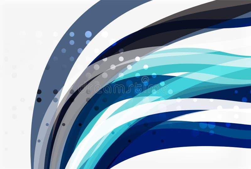 Διανυσματικές γραμμές κυμάτων χρώματος με τη διαστιγμένη επίδραση στο ελαφρύ υπόβαθρο ελεύθερη απεικόνιση δικαιώματος