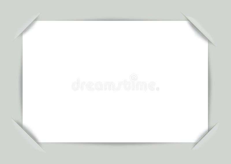 Διανυσματικές γωνίες πλαισίων φωτογραφιών διανυσματική απεικόνιση