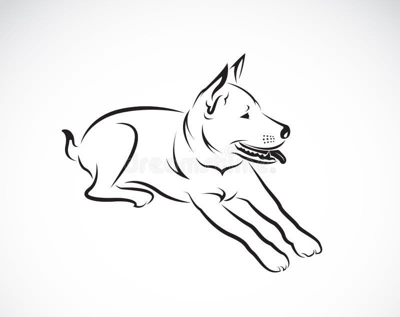 Διανυσματικές εικόνες του σκυλιού ελεύθερη απεικόνιση δικαιώματος