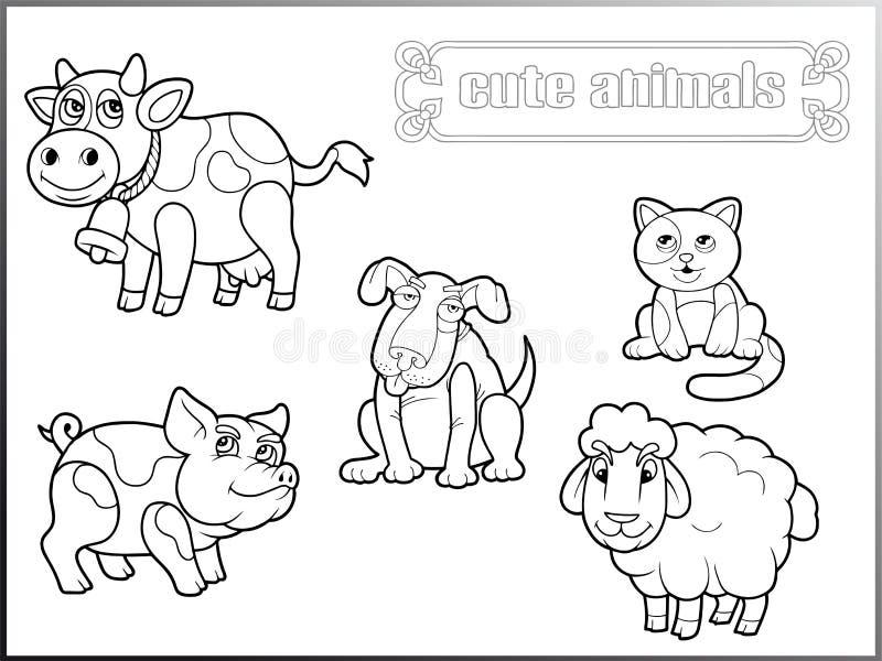 Διανυσματικές εικόνες των χαριτωμένων ζώων απεικόνιση αποθεμάτων