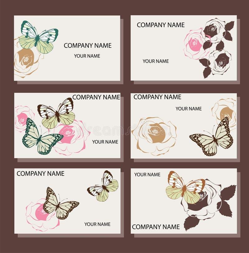 Διανυσματικές επαγγελματικές κάρτες διανυσματική απεικόνιση