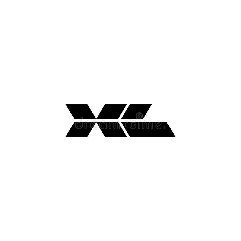 Διανυσματικές επιστολές XL λογότυπων μορφές διαμαντιών διανυσματική απεικόνιση